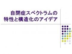 実務専門研修Ⅱ~自閉症スペクトラムの特性と構造化のアイデア~