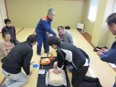 普通救命講習 心肺蘇生法チーム訓練
